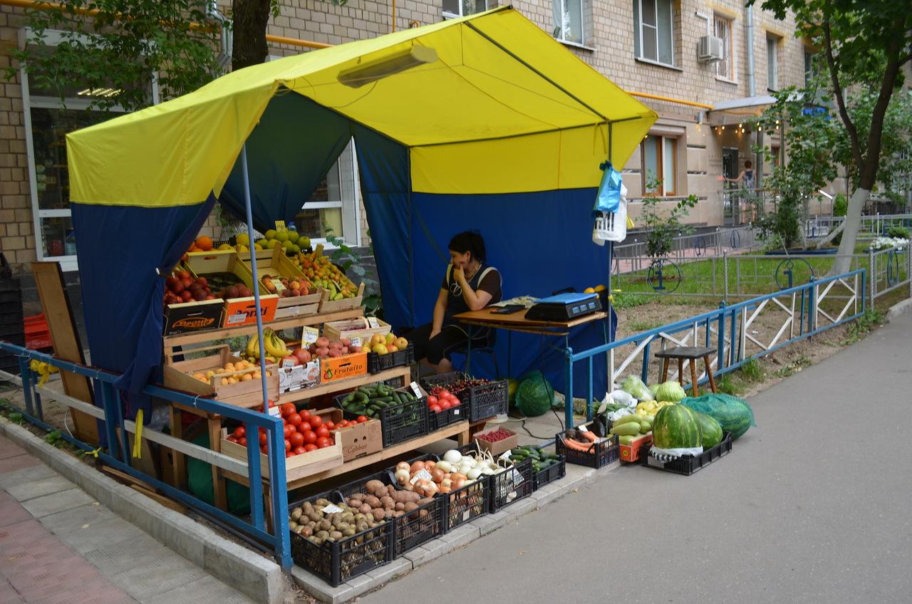 овощная палатка
