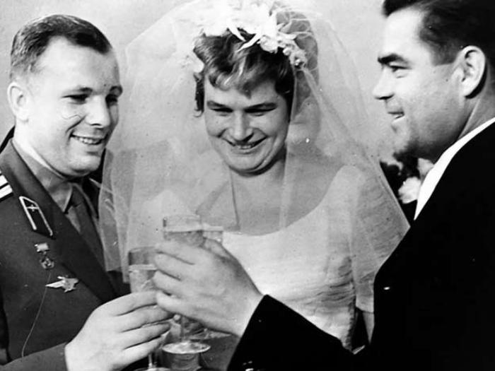 Свадьба Терешковой, гость - Гагарин