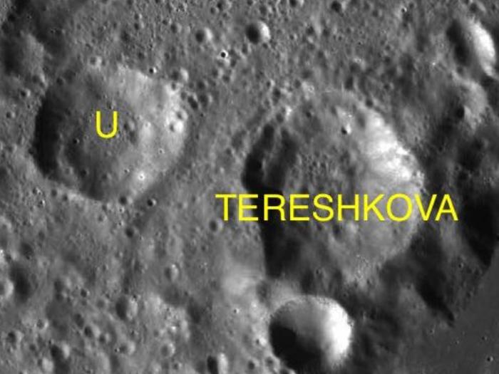 Кратер названый в честь Терешковой