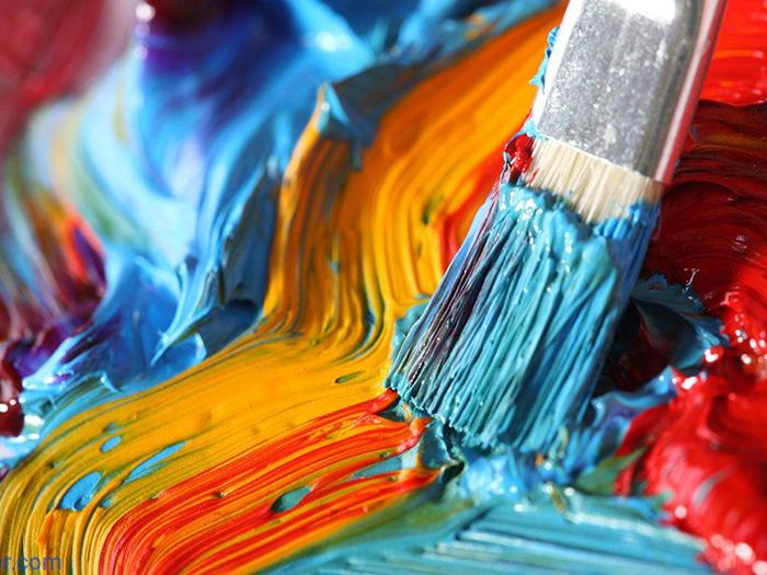 Краски разного цвета