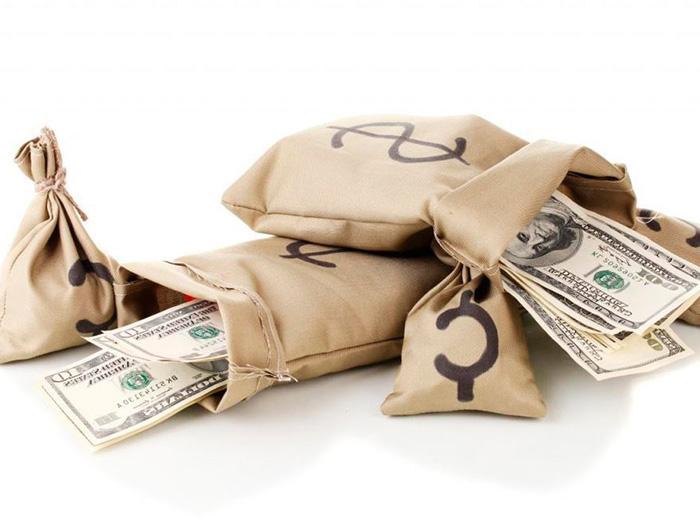 Деньги в мешочках